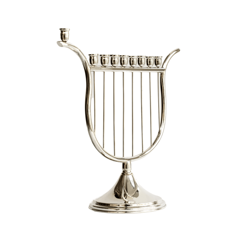 Harp of David Hanukkah Menorah