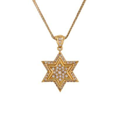 Amazing Star of David Pendant- Diamond/Gold