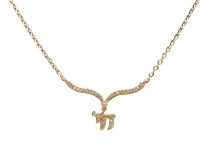 18k gold 'Chai' necklace