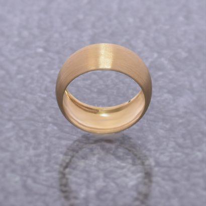 Divine 14k Thickset Gold Wedding Band