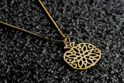 14K Yellow Gold Pomegranate Necklace