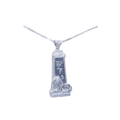 Beautiful Jerusalem-Lion Mezuzah Pendant- 14 k Gold andֲBlack Diamonds