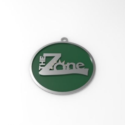 Personalized keychain with enamel coloring