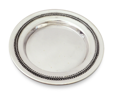 Small Filigree Plate for Yeled Tov