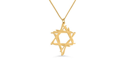14K  Gold Free Style Art Star Necklace  - NADAV ART