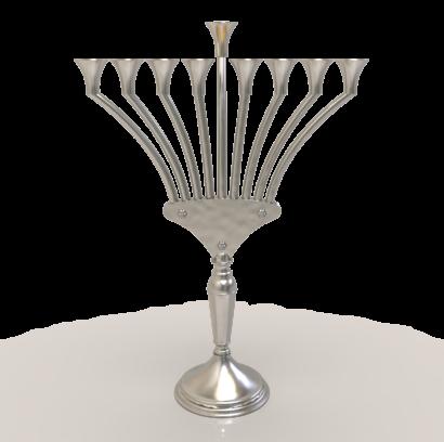 Modern & Stunning Sterling Silver Hanukkah Menorah  - NADAV ART