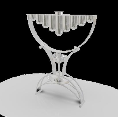 Large Hanukkah Menorah Crafted in 925 Sterling Silver  - NADAV ART