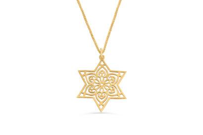 14K  Gold Star of David Necklace  - NADAV ART
