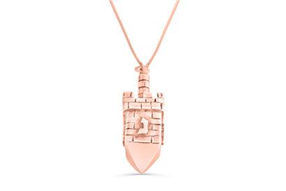 14K  Gold Dreidel Necklace  - NADAV ART