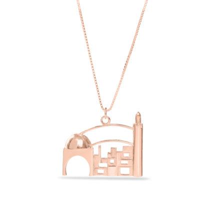 14K  Gold Holly Jerusalem Necklace  - NADAV ART